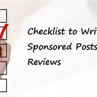 Checklist to Write Sponsored Posts and Reviews